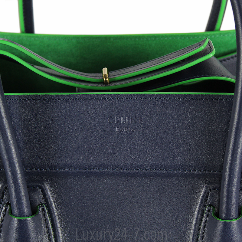 Celine Navy and Green Phantom Bag | eBay