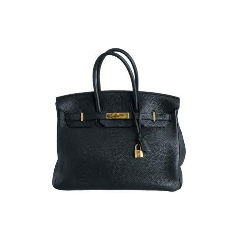 Hermès Black Clemence Leather Birkin 35