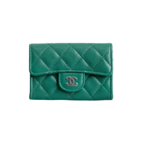 Chanel Classic Compact Caviar Leather Flap Cardholder
