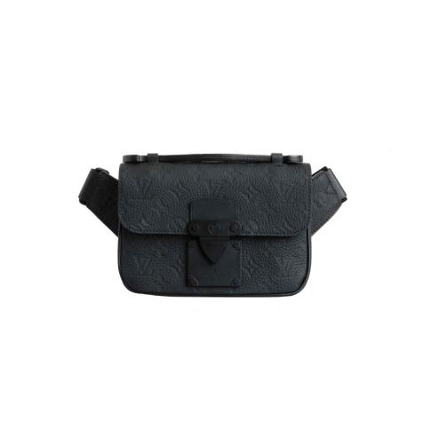 Louis Vuitton Taurillon Monogram S Lock Sling Cross Body Bag