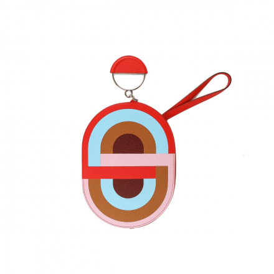 Hermès Rouge De Coeur Multicolore In-The-Loop To Go Pouch