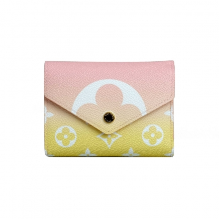 Louis Vuitton Pink Monogram  Victorine Wallet From 2021 Special Summer Ed By The Pool
