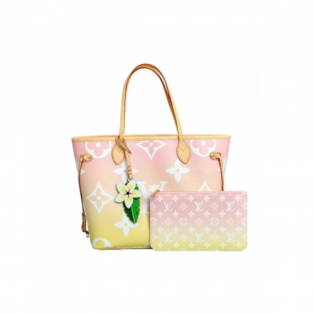 Louis Vuitton Pink Neverfull MM Special Summer ed By The Pool Collection