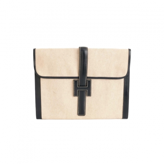 Hermès Black Natural Jige GM