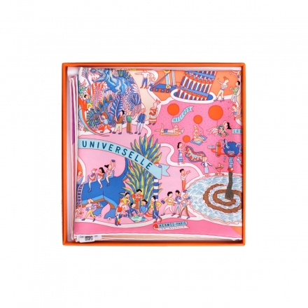 """Hermes Carre Twilly """"Exposition Universell"""" Scarf"""