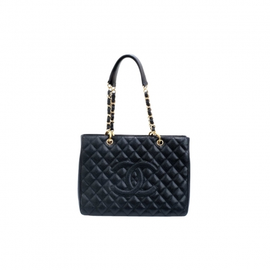 Chanel Caviar Grand Shopping  Black Tote