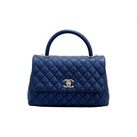 Chanel Blue  Small Coco Iridescent Top Handle bag