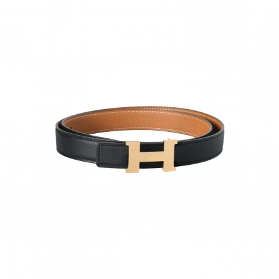 Hermès Gold/Black Reversible Mini Constance H 24mm Belt Kit
