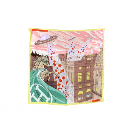 Hermes Space Shopping Silk Scarf
