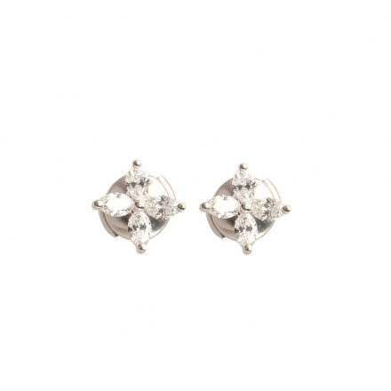 Tiffany & Co. Platinum Tiffany Victoria Diamond Stud Earrings