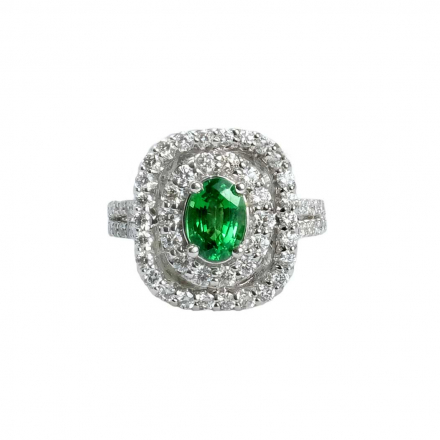 1.33ct Garent Halo Diamond 14K